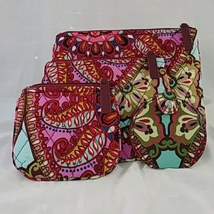 Vera Bradley 4 Piece Cosmetic Set-Resort Medallion